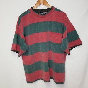 Vtg Island Force Red/Green T-Shirt Single Stitch